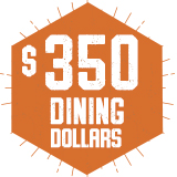 $350 Dining Dollars - Default Meal Plan $350.00